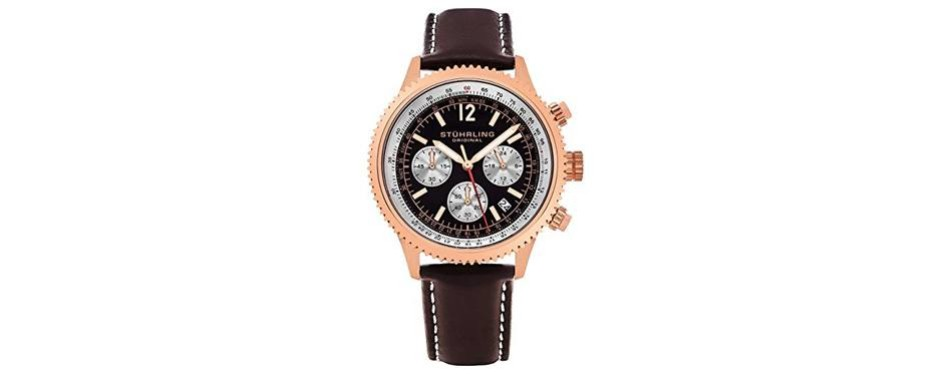 monaco quartz chronograph gold stuhrling watch