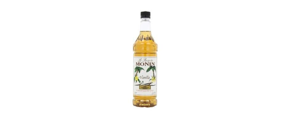 monin vanilla flavored syrup