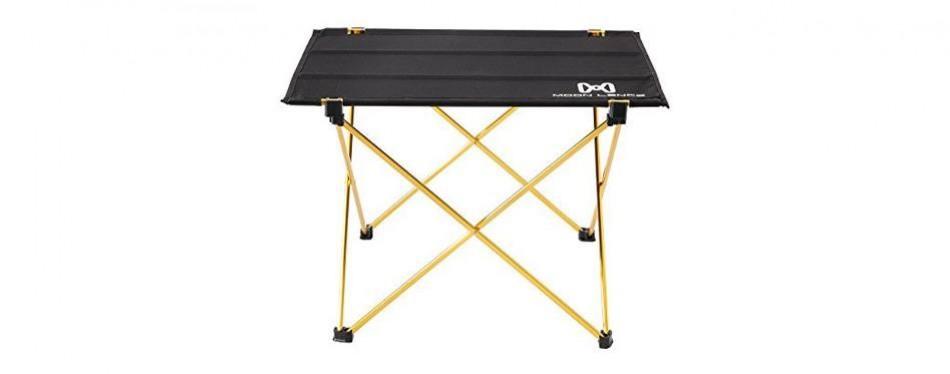 moon lence ultralight folding camping picnic roll up table
