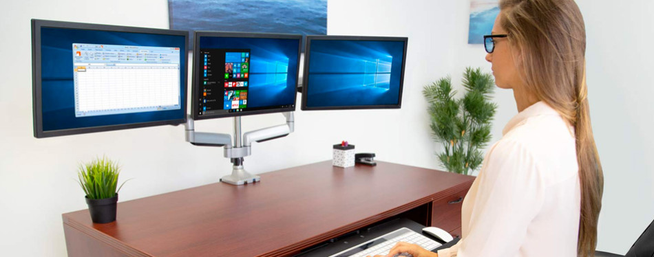 mount-it! triple monitor mount with usb port