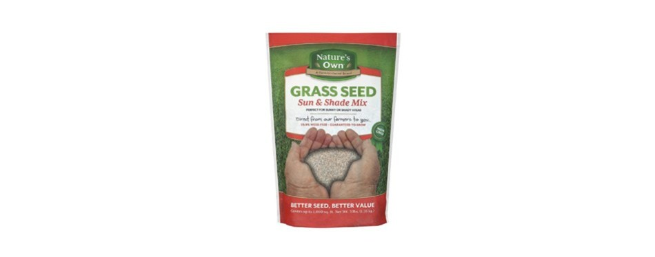 mountain view seeds natures own sun & shade mix grass seed