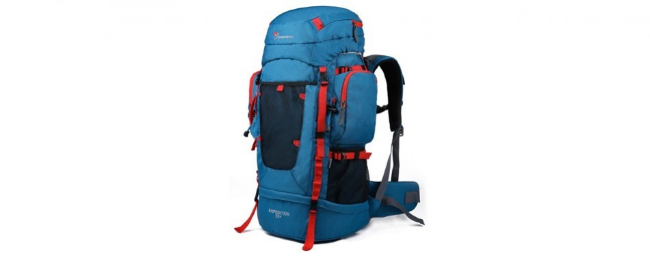 mountaintop 55l hiking backpack