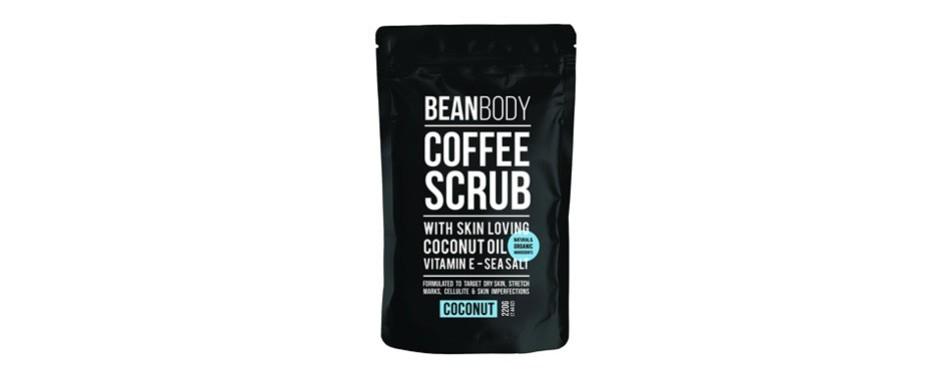 mr. bean organic all natural coffee bean exfoliating body skin scrub