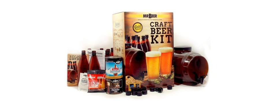 mr. beer premium gold edition home brewing kit