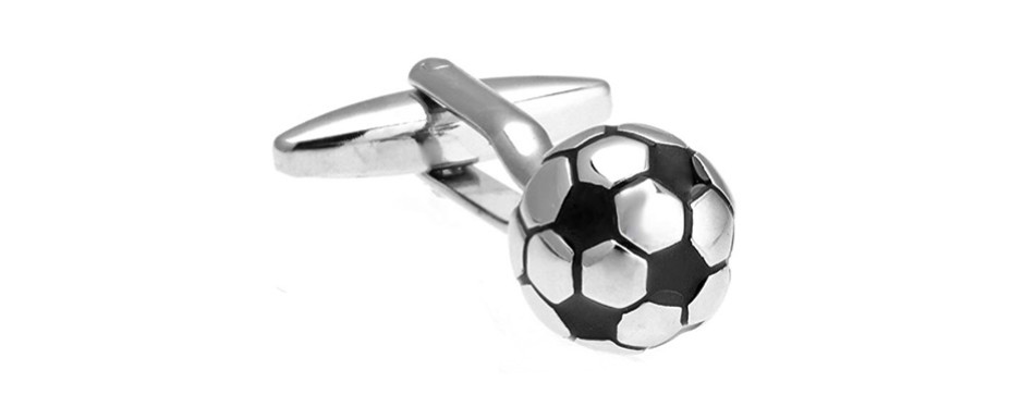 mrcuff presentation gift box 3d soccer ball cufflinks