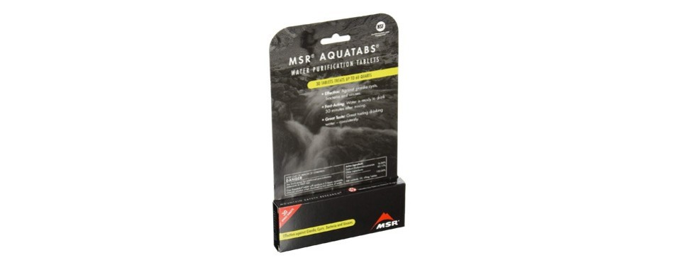msr aquatabs water purification