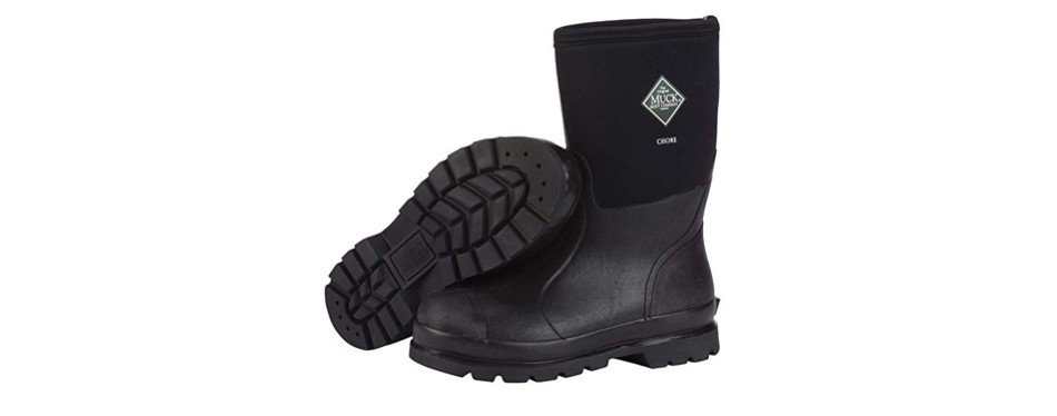 muck chore classic rubber work boots