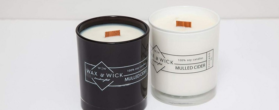 mulled cider scented soy candle