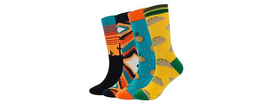 muqu men's casual dress socks