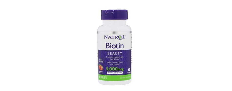 natrol biotin beauty 5,000 mcg