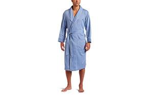 Nautica Long Sleeve Cotton Woven Robe