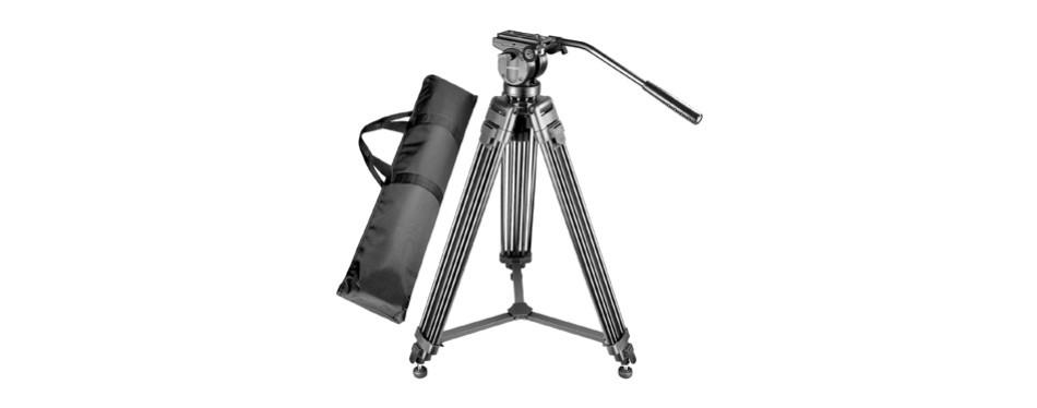 neewer professional 61 inches/155 centimeters aluminum alloy video camera tripod