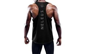 neleus dry fit y-back muscle tank top