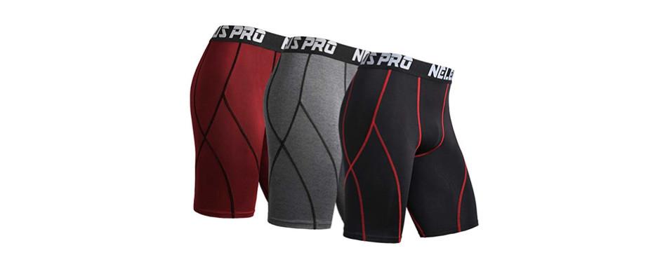 neleus men's compression shorts
