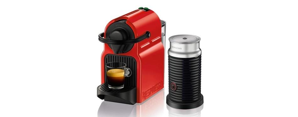 nespresso inissia original espresso machine with aeroccino milk frother
