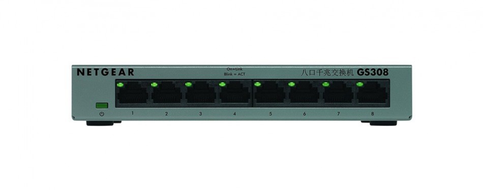 netgear gs308 8-port gigabit ethernet unmanaged switch