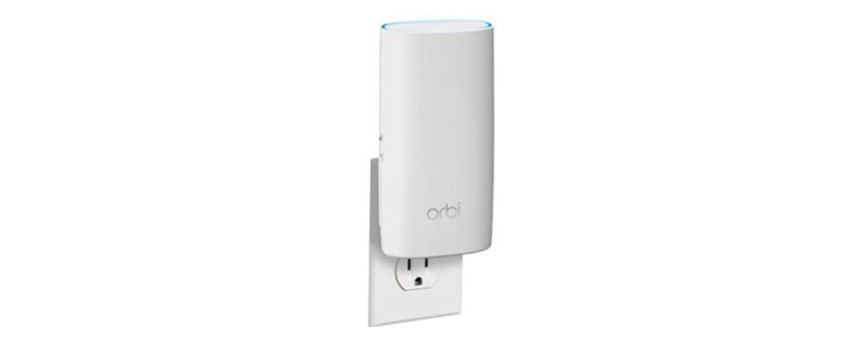 netgear orbi compact wall-plug whole home mesh wifi extender