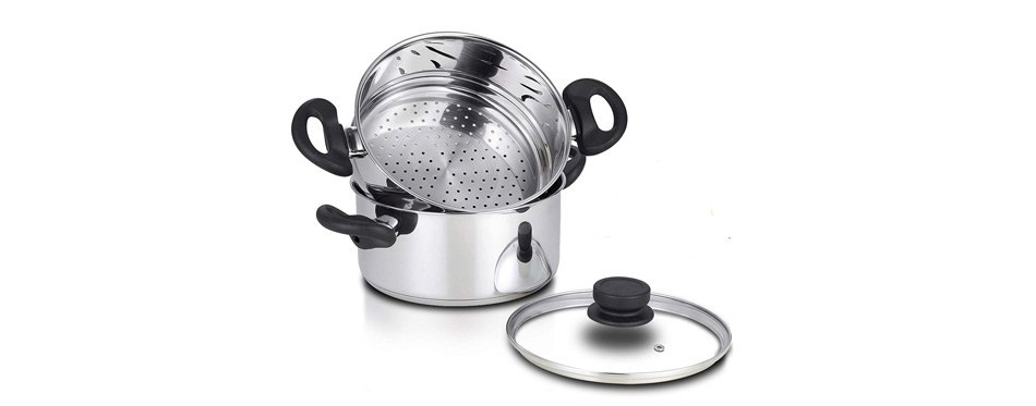 nevlers stainless steel 3-quart steamer pot