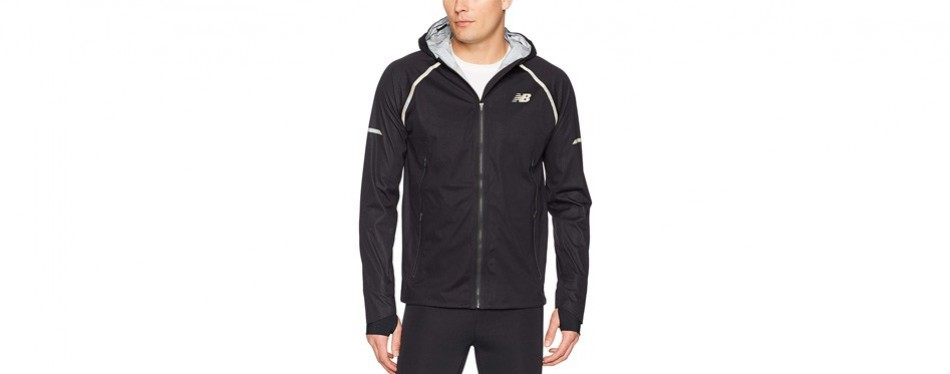 new balance men's all-weather 3-layer reflective running jacket