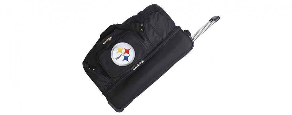 nfl drop bottom rolling duffel bag