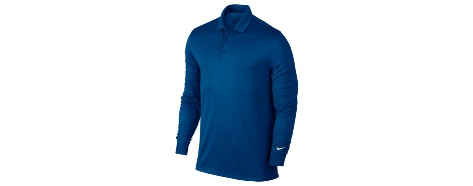 nike golf closeout men's victory longsleeve polo