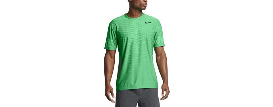 nike men's dri-fit zonal cooling training top-stadium green