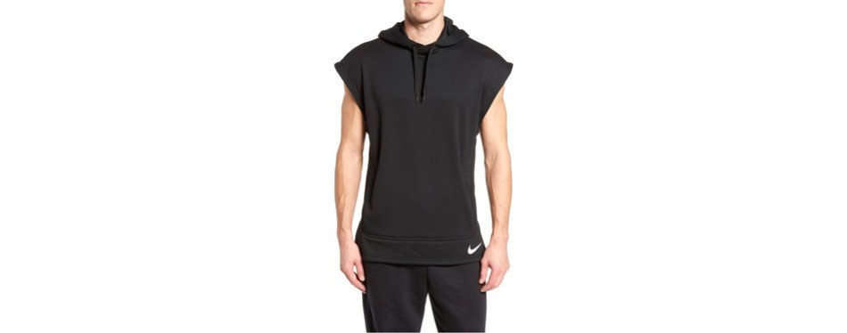 nike training dry top px sleeveless hoodie