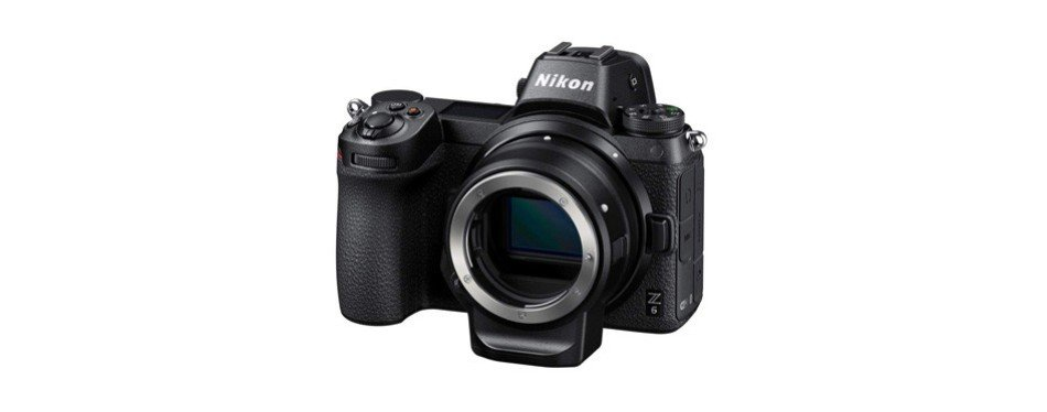 nikon z6 fx-format mirrorless camera body with mount adapter