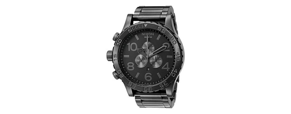 nixon men's chrono water resistant watch