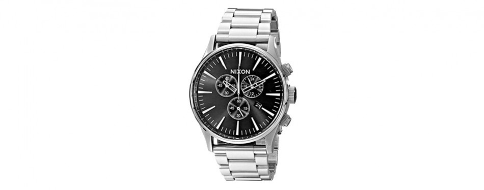 nixon men's sentry chrono watch