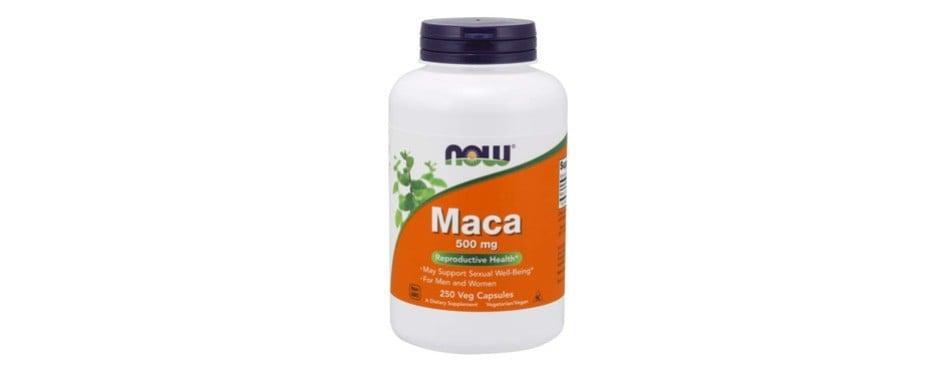 now supplements, maca