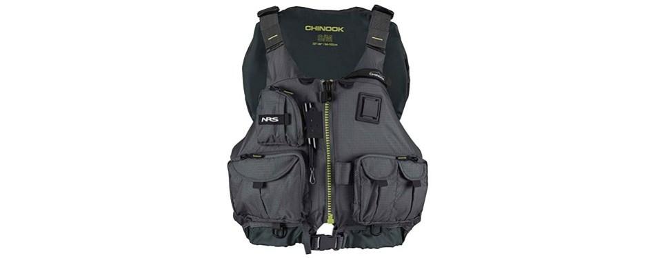 nrs chinook fishing vest pfd
