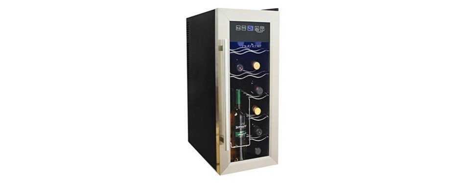nutrichef 12 bottle thermoelectric wine cooler