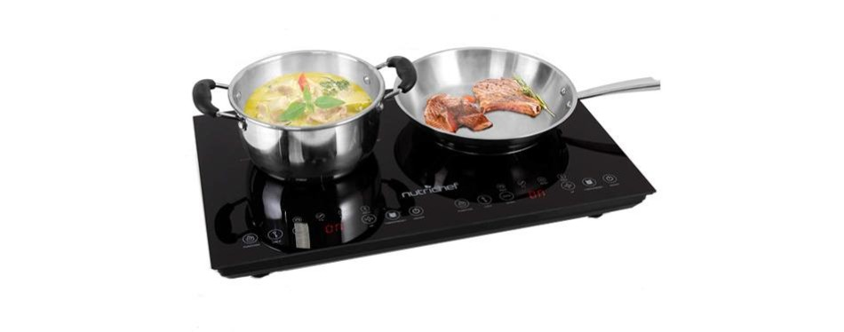 nutrichef pkstind48 dual electric induction cooker cooktop