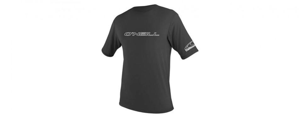 o'neill basic skins upf 50+ short sleeve fishing shirt