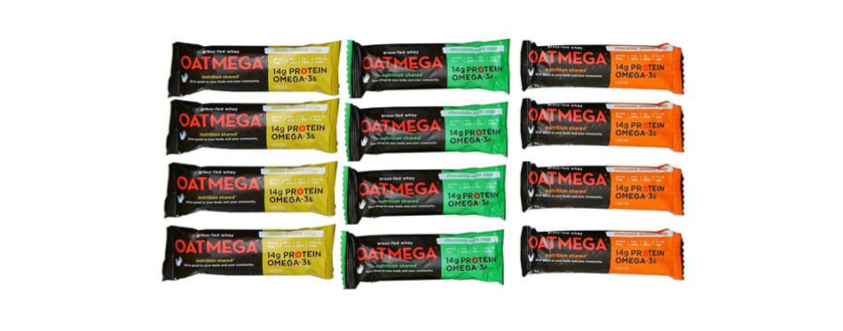 oatmega grass-fed whey bars variety pack