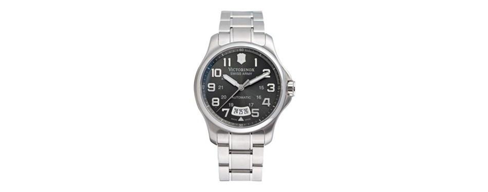 officer's mechanical self-winding watch