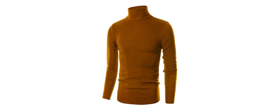 ohoo mens slim fit soft cotton pullover