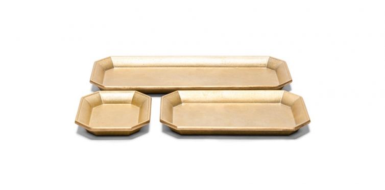 oji masanori set of brass desk trays