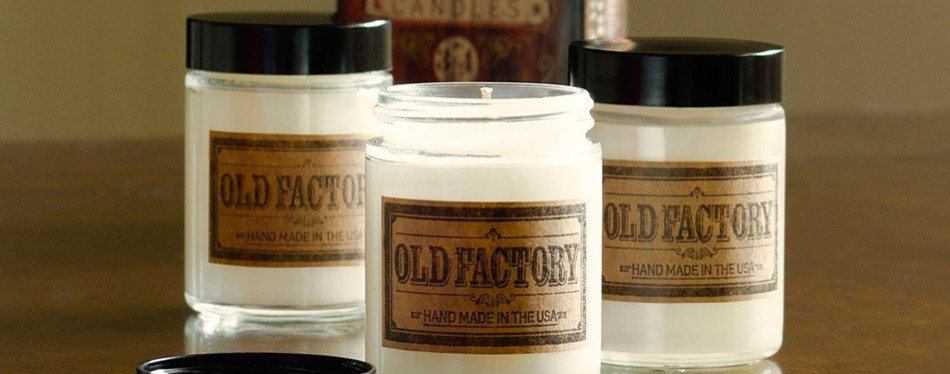 old factory scented candles