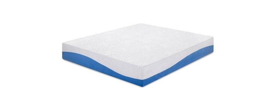 """olee sleep 10"""" gel infused layer top memory foam mattress"""