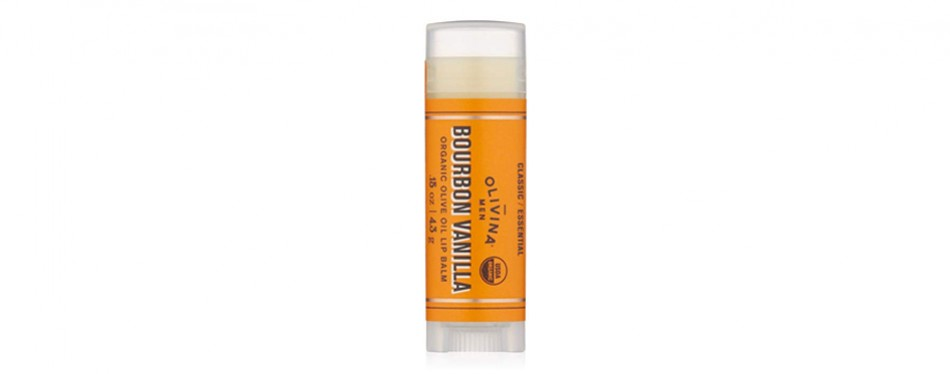 olivina men lip balm, bourbon vanilla, 0.15 oz.