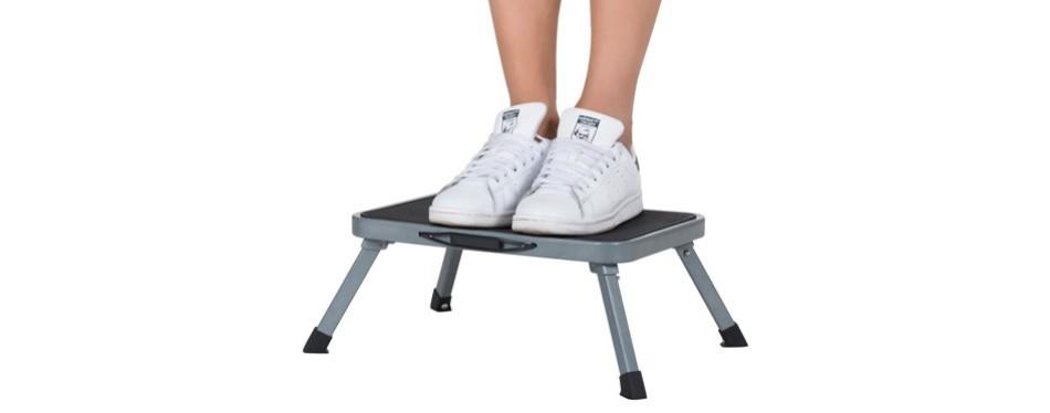 ollieroo step stool portable lightweight folding steel step