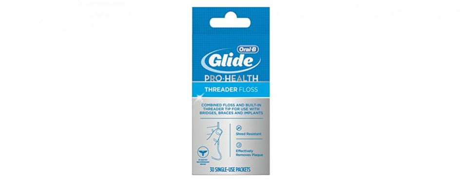 oral-b glide pro-health threader dental floss