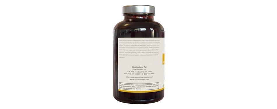 organic maca root capsules by viva naturals