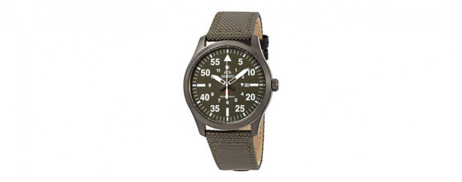 orient flight canvas watch