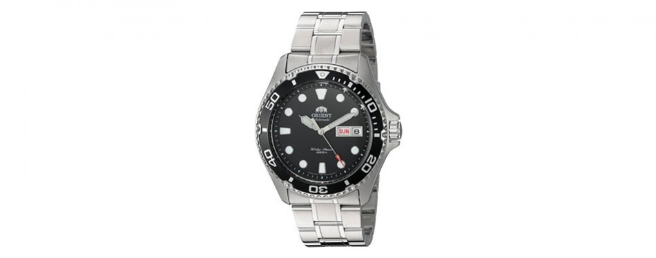 orient men's ray ii stainless steel diving watch