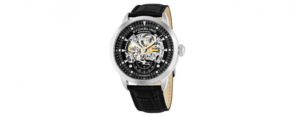 original executive automatic skeleton stuhrling watch