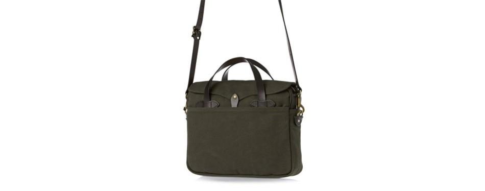 original filson briefcase in otter green