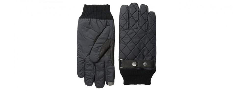 original penguin men's quilted gloves